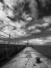 Workington harbour (Alf Branch) Tags: mono beach bw blackandwhite irishsea sea seaside seascape cumbria clouds alfbranch workington olympus omd olympusomdem5mkii leicadg818mmf284 panasonic