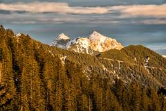Kreuzkopf und Ochsenälpeleskopf (stefangruber82) Tags: alpen alps tirol tyrol sunset herbst sonnuntergang fall mountains berge schnee snow wald forest bäume trees