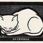 December cat(1917) by Julie de Graag (1877-1924). Original from the Rijks Museum. Digitally enhanced by rawpixel. thumbnail