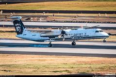 [PDX.2013] #Horizon.Air #QX #Bombardier #De.Havilland #Dash.8 #DHC-8 #Q400 #N416QX #awp (CHRISTELER / AeroWorldpictures Team) Tags: horizon air usa de havilland canada dhc8402q dash 8 msn 4083 eng 2x pwc pw150a pax y76 reg n416qx rmk fleet number 416 history aircraft first flight test cgdnk built site toronto downsview yzd delivered horizonair qx qxe wfu stored tucson ktus az bombardier dhc8 dash8 q400 landing tweeter plane aircrafts airplane planespotting portland pdx kpdx sunset oregon nikon d300s zoomlenses nikkor 70300vr raw lightroom aeroworldpictures awp 2013