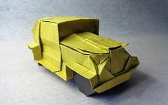 Origami Vintage Car (mrmicawer) Tags: papiroflexia origami papel coche car vintage época años veinte vehículo automóvil