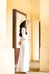 IMG_1556 (Call me CHOW) Tags: happy dress beauty blond female long hair carefree young women wavy fashion model beautiful people portrait ao dai aodai girl hanoi vietnam sunny yearbook smilling smile sunset lookbook pretty posing face