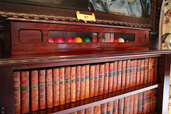 Bookcase and cue ball case (Can Pac Swire) Tags: burghleyhouse manor house prodigy historic mansion park estate aristocracy stately home stamford lincs lincolnshire england great britain british english pe9 elizabethan tudor era period 2016aimg2743