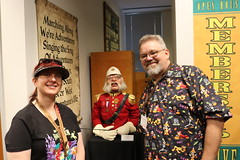 """Colonel Critchlow Sunchbench with Tracey and Scott at the Walt Disney Archives • <a style=""""font-size:0.8em;"""" href=""""http://www.flickr.com/photos/28558260@N04/44918675275/"""" target=""""_blank"""">View on Flickr</a>"""