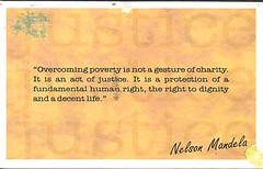 29 IWriteDeb (Rocky's Postcards) Tags: quote nelson mandela postcard iwritedeb overcomingpoverty