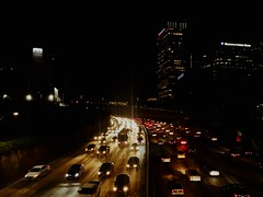 I-10 in Downtown Los Angeles. Always busy #losangeles #traffic #downtown (mit.gala.93) Tags: losangeles traffic downtown