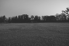 Abandoned football field (IvoPoland) Tags: football field night włodawa poland