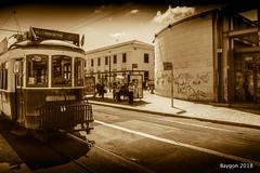 Free vintage WiFi (ericbaygon) Tags: lisbon lisboa lisbonne potugal tram tramway wifi nikon subway train d750 vintage sepia monochrome monochromatic