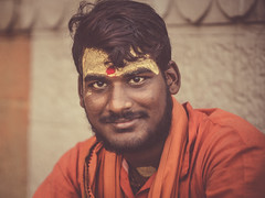 young sadhu (andy_8357) Tags: young sadhu varanasi india uttar pradesh ganges mother hindu hinduism sony ilce6000 ilcenex mirrorless natural handsome orange ochre kind gentle simple easygoing canon fd 50mm f14 alpha a6000 bokeh vintage clear eyes relaxed ghat ghats river spiritual spirituality easy going friendly open