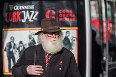 Jazzy gent (Frank Fullard) Tags: frankfullard fullard candid street portrait color colour jazz festival cork irish ireland beard fashionista hat