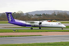 G-JECP 1 Bombardier Dash 8Q-402 FlyBe Airlines (new livery) MAN 08DEC18 (Ken Fielding) Tags: gjecp bombardier dash8q402 aircraft airplane airliner jetprop turboprop regional commuter
