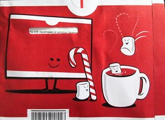 2018 NetFlix Red Christmas Envelopes 6318 (Brechtbug) Tags: netflix red christmas envelopes 2018 marshmellows clinking mugs cheer holiday holidays ad advertising art cartoon illustration decoration net flix flicks netflicks marshmellow