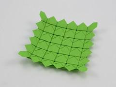 Unripe Sunflower Tessellation (Michał Kosmulski) Tags: origami tessellation flower sunflower petals leaves seeds michałkosmulski tantpaper green