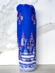 Pocket Bag Rich Blue-2.jpg (KIZEN THE LABEL) Tags: matbag blue yogamatbag star balisarong yoga pocketbagrichblue flyinghearts madewithlove pilates sarong shellbutton kizen
