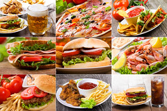 collage of fast food (zombie62077) Tags: hamburger burger pizza shrimps mexicanfood cheeseburger taco nachos salsa chickenwings beef fries collection potato beer beverage soda mug bread salad sandwich junkfood bun classic cuisine food delicious dinner fastfood barfood drink cola lettuce lunch meal meat object single tomato vegetables collage restaurant russianfederation