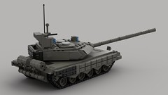 t90ms main battle tank (V4)2 (demitriusgaouette9991) Tags: lego military ldd army armored powerful tank turret railgun russian whitebackground lmg vehicle deadly destroyer
