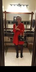 Silver Stone Hair (krislagreen) Tags: tg transgender cd crossdresser leggings sweaterdress boots feminzation femme feminized