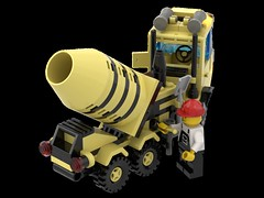 6682_Cement_Mixer_R07 (N2Brick) Tags: cement mixe 6682 lego set