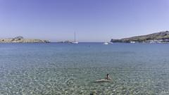 Lindos, Greece (jodee1kenobi) Tags: rhodes lindos beach sea greece beachlife ocean streetphotography reflections