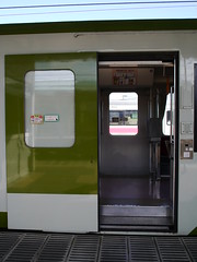 The outer-sliding door (しまむー) Tags: panasonic lumix dmcgx1 gx1 sigma art 19mm f28 dn round trip train