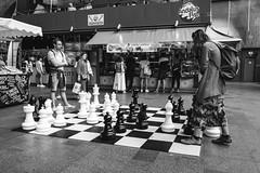 Chess (modesrodriguez) Tags: city europe holanda holland netherlands photography travel couple people playing chess rotterdam streetphotography blackwhite