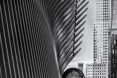 NYC (marco rubini) Tags: nyc oculus newyorkcity calatrava torre liberty towerliberty tower manhattan bwbn blackandwhitw biancoenero stazionemetropolitana metropolitana