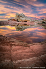 Calm and Collected (David Swindler (ActionPhotoTours.com)) Tags: arizona reflection southwest utah whitepocket whitepockets clouds desert drama sunset