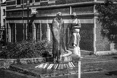 After love (Fabrice Gillet) Tags: doubleexposure statue quartierdesarts bw nb surreal bruxelles brussels