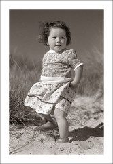 Fashion 0008-38 (Steve Given) Tags: socialhistory familyhistory fashion girl child kids toddler beach melbourne 1940s