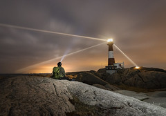 The lighthouse watcher (kenthelleland) Tags: lighthouse egersund kenthelleland light coast watcher rogaland norway norge eigerøy fyrhus landscape nightimage nightshot night darkness cloudy clouds selfie lightbeam lightray nature tokina canon70d canon adventure trip