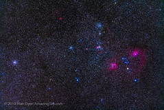 The Clusters and Nebulas of Auriga (Amazing Sky Photography) Tags: 200mm astronomytools auriga binocularfield emissionnebula flamingstar fornax ic405 ic410 ic417 lightrack littlefish m36 m37 m38 ngc1931 pinwheel sh2235 sharpless starfish asterism openclusters starclusters