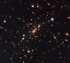 Hubble Uses Gravitational Lens to Capture Disk Galaxy (Sabri KARADOĞAN) Tags: nasa marshall space flight center msfc goddard gsfc hubble telescope solar system beyond nebula esa european agency science institute stsci