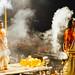 Smoke During Aarti, Varanasi India