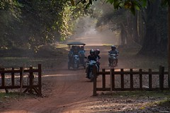 IMGP1175 Motorbikes overloaded and tuktuk in the dusty road (Claudio e Lucia Images around the world) Tags: bayon angkorthom siemreap cambodia angkor thom siem reap wat cambogia temple tempio khmer ancient asceta pentax pentaxkp pentax18135 pentaxlens pentaxart entrance faces statue bridge naga stone heads indu induist buddhist rovine guardians happy planet asia favorites albero cielo roccia erba lavorazione della pietra animale antico legno bike motorbike tuktuk people dust road happyplanet asiafavorites