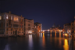 Venetian paths 126 Good morning Venice(La salute) (Maurizio Fecchio) Tags: venice venezia italia italy canal water lights reflections cityscape city nightcity nikon nopeople longexposure boats atmosphere architecture citynight