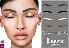 [LeLuck]Eyebrows Set-Josephine (Sunkora) Tags: secondlife catwa omega thedarkness event eyebrows set new meshhead leluck applier