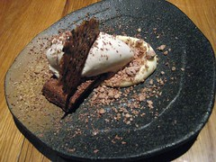 GAIJIN, TRIPLE CHOCO AND MINT (CHOCOLATE CAKE, WHITE CHOCOLATE CREME, CRYSTALIZED CHOCOLATE, MINT ICE CREAM) 012 (smtfhw) Tags: 2018 food dinners cooking restaurants helsinki finland gaijin