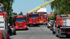 The Fire Brigade (My Best Images) Tags: brandbil fordon långskeppsgatan olycka polisbil stockholm sverige teman police care fire engine car accident norra ängby bromma västerort