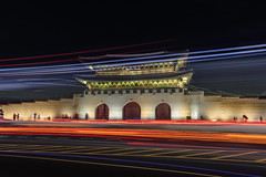 Gwanghwamun Gate (vikrant_16) Tags: gwanghwamun gate royal palace korea seoul light longexposure trails flickr bod