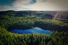 Porstjärn (Klas-Herman Lundgren) Tags: dalarna sweden gimmen autumn höst november forest trees lake sjö skog travel blue tjärn porstjärn drone sverige sifferbo se