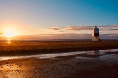 Sunset on the beach (Nige H (Thanks for 15m views)) Tags: nature landscape sea beach burnhamonsea somerset sunset england lighthouse littlelighthouse