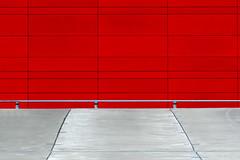 Red and grey (on Explore) (Jan van der Wolf) Tags: map191224v red redrule rood grey grijs parkinggarage parkeerplaats lines lijnen lijnenspel playoflines interplayoflines parking perspective perspectief