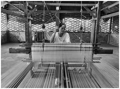 artisan @ angkok silk farm (211218) (ng_yong_chin) Tags: cambodia siemreap silk silkfarm angkok angkokartisans artisan craft workshop omd olympus omdseries oly outdoor omdem5mk2 blackandwhite m43 microfourthird mz12100f4pro