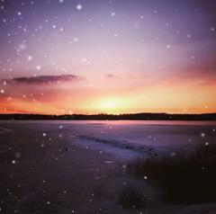~ last days of December ~ Skinnskatteberg Sweden (Tankartartid) Tags: lila purple natur nature picsart snö sjö lake fruset frozen snow snowing solnedgång sol sunset sun vinter winter landskap landscape nordic norden europe västmanland sweden skinnskatteberg