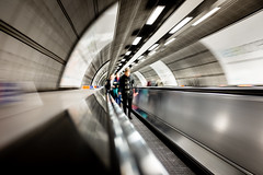 One Second London #9 (Sean Batten) Tags: london england unitedkingdom gb waterloo tunnel fuji x100f fujifilm blur longexposure motionblur city urban metro subway tube londonunderground londonwaterloo abstract