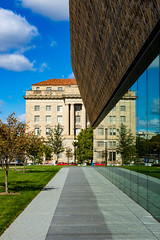 National Museum of African American History and Culture (Will-Jensen-2020) Tags: color nikon d7200 dslr reflection oldvsnew stone metal glass building museum photography architectural architecture washingtondc washington dc usa