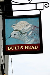 Pub sign for the Bulls Head, West Clandon. (Peter Anthony Gorman) Tags: pubsigns signs bullshead surreypubs westclandon