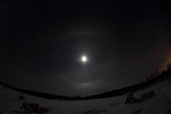 Moon halo_2019_01_18_0014 (FarmerJohnn) Tags: kuu kuutamo moonlight reflection heijastus haloilmiö halo moonhalo night yö talvi winter january tammikuu hanki snowfield lumi miljoonatimanttiahangella snow samyang8mm35umcfisheyecsii canoneos7d canon 7d suomi finland valkola anttospohja juhanianttonen