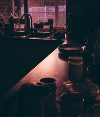 Kitchen Sunset (Anthony Kernich Photo) Tags: stilllife home house dwelling indoor inside room kitchen bench item random sunset reflection surfance summer food jar sink window olympusem10 olympus olympusomd microfourthirds lumix longexposure experiment adelaide australia southaustralia life flickrheroes light