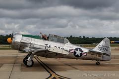 Bill Leff in his North American AT-6 Texan (Norman Graf) Tags: at6g at6 airplane aircraft airshow 2017nasoceanaairshow aerobatics n49na billleff northamerican harvard plane snj texan trainer wwii warbird